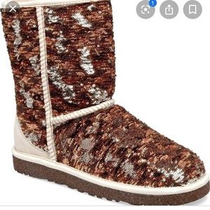 Ugg multi color sequin boots